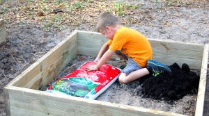 picture of kid with growbed