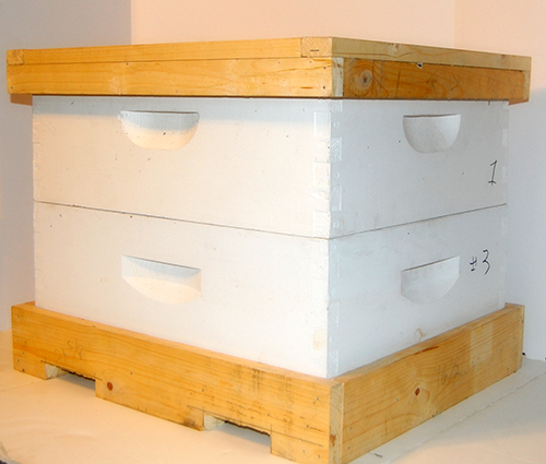 Picture of bee hive boxes in the Frame Vault