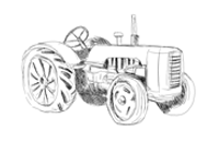 Sketch of tractor